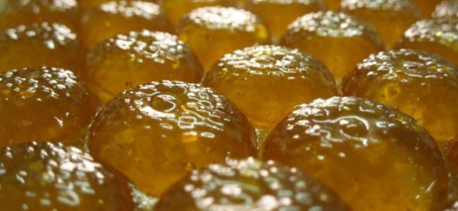Bonbons au miel avant sucrage