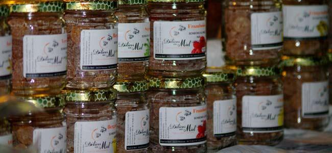 Stand de bonbons au miel